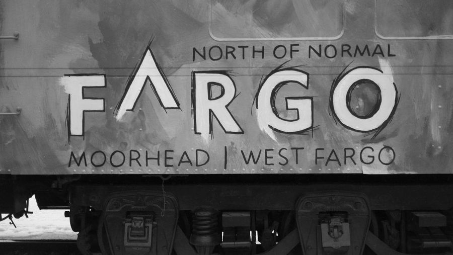 January 11, 2018 Downtown Fargo North Dakota West Fargo Close-up Communication Day Moorhead No People Outdoors Text Western Script