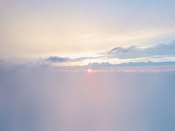 Nature Cloud - Sky Sky Tranquility Beauty In Nature Scenics Outdoors Cloudscape No People Tranquil Scene Sunset Ethereal Sky Only Sun Backgrounds