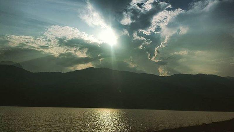 Papanasam Dam Reflection of Sun Rays Shot On Nokia  808
