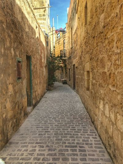 Alleyview in Victoria, Gozo Island, Malta Alley Alleyway Architecture Building Exterior Built Structure City Day History Medieval Medieval City Narrow Alley No People Outdoors