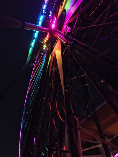 ferris wheel close up Multi Colored Night Arts Culture And Entertainment Illuminated Low Angle View Ferris Wheel Amusement Park Ride EyeEmNewHere