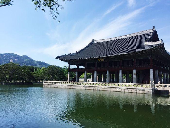 Gyungbok Palace Gyeonghoeru Pavilion In Geonbokgung Pal beautiful palace Seoul, Korea