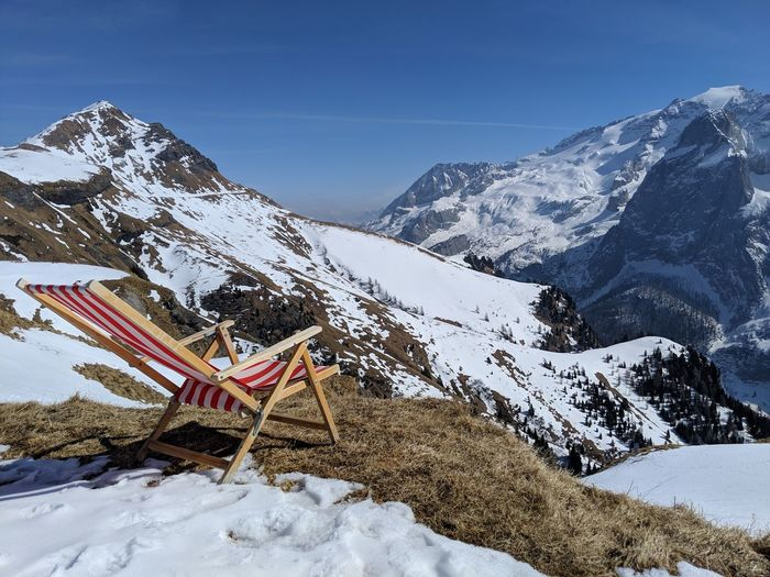 Day 1, Winter Spring - best combination. Sundeck Mountain Snow Cold Temperature Winter Snowcapped Mountain Mountain Peak Sky Landscape Mountain Range Ski Holiday