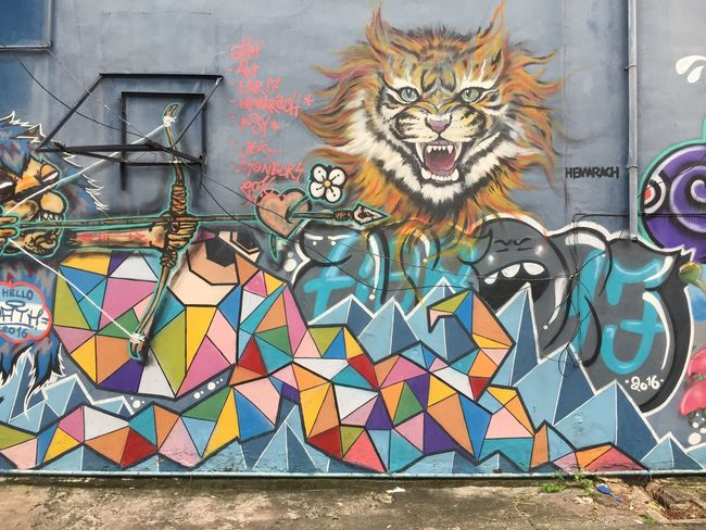 Wall Graffiti Multi Colored Architecture Built Structure Day Building Exterior Outdoors No People