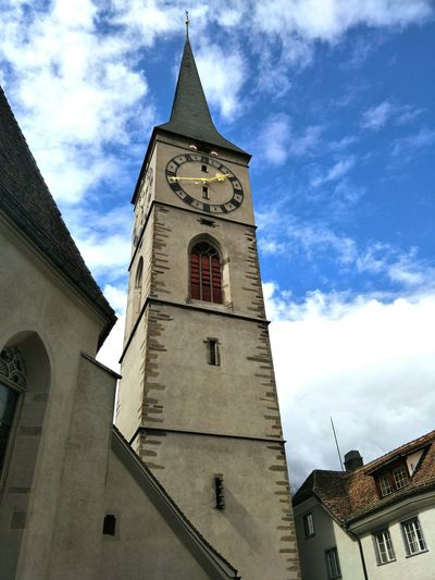 Chur Church Saint Martin Church Low Angle View Blue Sky Building Exterior Travel Switzerland The Week On EyeEm