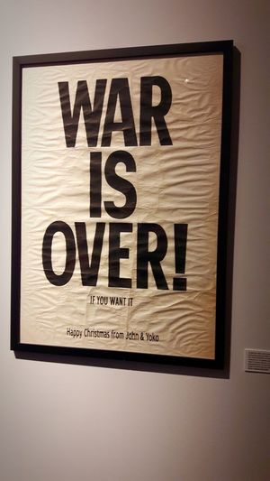 ✌ The Beatles CommunicationWar Text Peace Peaceful War Is Over If You Want It Make The Difference ChangeTheWorld Phrases To Think About Positive Future Frame Picture No People Text The Media Close-up Day No People Text The Media Close-up Day
