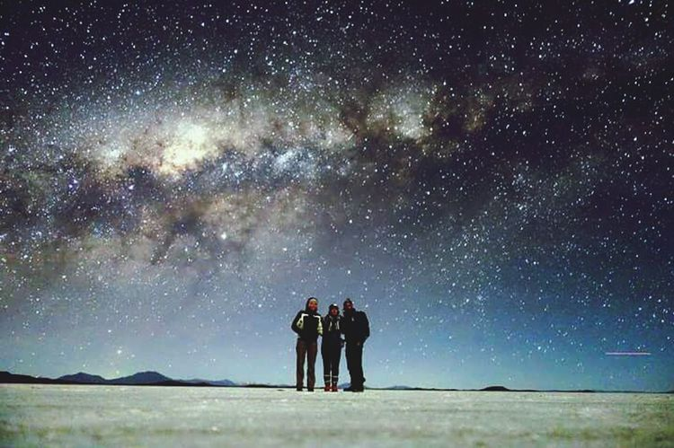Star - Space Night Milky Way Astronomy Galaxy Space Constellation Sky Silhouette People Togetherness Star Field Landscape Outdoors Adult Awe Beach Adventure Nature Mountain Second Acts EyeEmNewHere