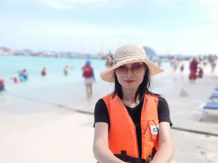 EyeEm Selects Vacations Sea Beach Summer Lifestyles Front View One Woman Only Sand