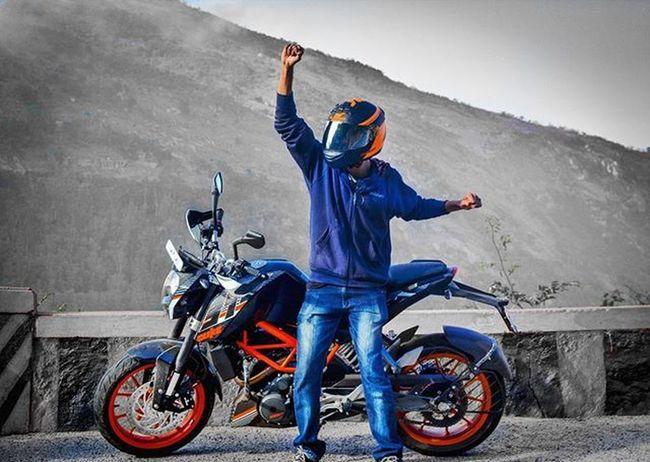 One week with Bae 😍😍 Powerpig. 🐷 Ktmindia Duke390 2016 Ktm Bangalore Ls2helmets Trellis Metzeler Sportec Ktm