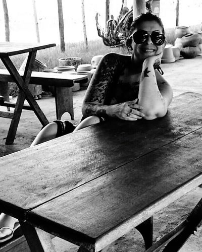 Taking Photos That's Me Relaxing Mylife❤ Nature Mybeach Happy Moments Ilovetattoos Brazil IloveBrazil Black And White Myself Mylife Happyday Kisses