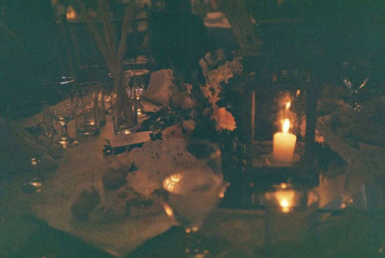 Wedding Wedding Photography Burning Candle Close-up Dinner Fire Fire - Natural Phenomenon Flame Food And Drink Glass Glowing Heat - Temperature High Angle View Illuminated Indoors  Lighting Equipment Nature Night No People Selective Focus Table Transparent Wall Wedding Ceremony