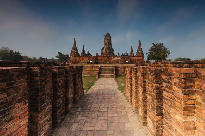 Wat Chaiwatthanaram is a Buddhist temple Ayutthaya , Thailand Ayutthaya | Thailand Wat Chaiwatthanaram Ancient Architecture Building Exterior Built Structure Cloud - Sky Day History Outdoors Sky Travel Destinations