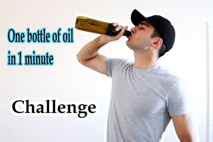 Want to see how I drink one bottle of oil in 1 minute? Search Nickxar in youtube