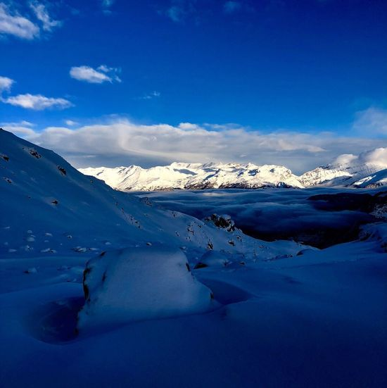 Mountain Swissalps Valais Val D'Anniviers Grimentz Zinal Winter Snow Tranquil Scene Nature Tranquility Shades Of Winter