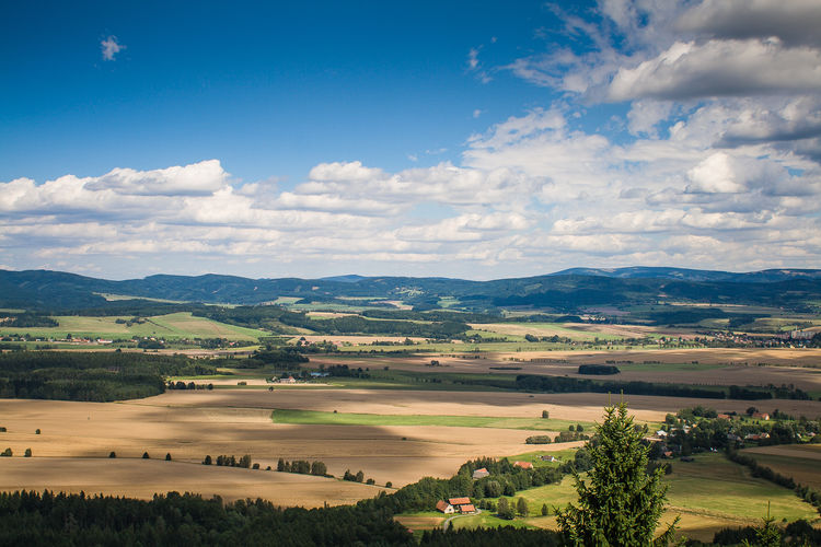 typical-czech-panorama Czech Republic Nature Sunny Agriculture Beauty In Nature Cloud - Sky Clouds Day Environment Growth Hill Idyllic Land Landscape No People Non-urban Scene Outdoors Rolling Landscape Rural Scene Scenics - Nature Sky Tranquil Scene Tranquility Tree View Into Land