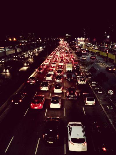 Red leste Night Lights Saopaulo RadialLeste Eye4photography  Streetphotography Urban A Bird's Eye View
