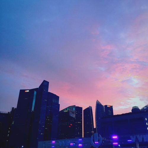 Ultra Music Festival Ultrasingapore Cityscape Urban Skyline Sunset Skyscraper