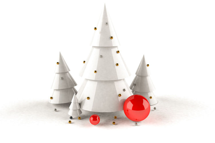 View of christmas decoration against white background
