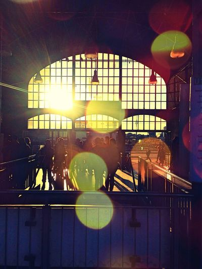 Sunset Silhouettes On The Road Public Transportation The Explorer - 2014 EyeEm Awards