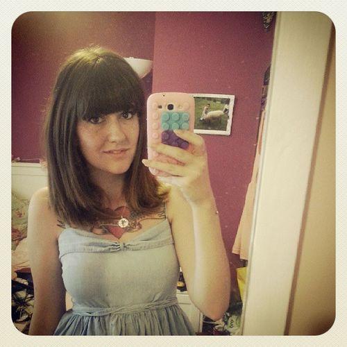 Summerdress Topshop Ootd Denimdress Selfie Tattoo Piercing Outfit