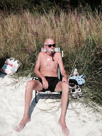 Grandpa Beach Love Smoke