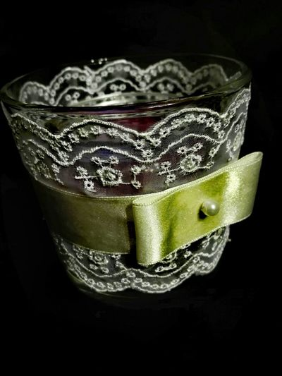 Lieblingsteil handmade Ornamental Glasses Candle Light No People Glass - Material Indoors  Close-up Romantic❤ Home Sweet Home ♥ Valentine's Day  Romantic Hot Handmade Lace Ribbon Delicate Beauty Delicate Art Is Everywhere