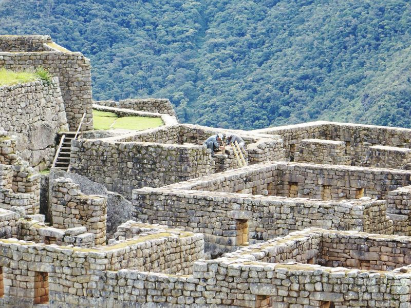 Inca Ruins Old Ruin History Ancient Ancient Civilization Archaeology Restoration Travel Destinations Architecture Built Structure Tourism Stone Material Travel Cultures Day Pyramid Outdoors Ancient History Bad Condition Nature Mountain Machu Picchu Archaeology Peru Inca