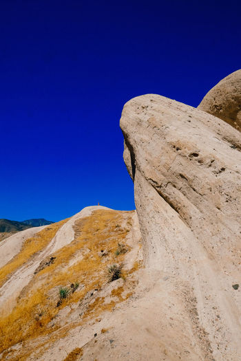 Rock Beauty In Nature Blue Clear Sky Contrast Day Landscape Mountain Nature No People Outdoors Physical Geography Scenics Sky Tranquility Perspectives On Nature