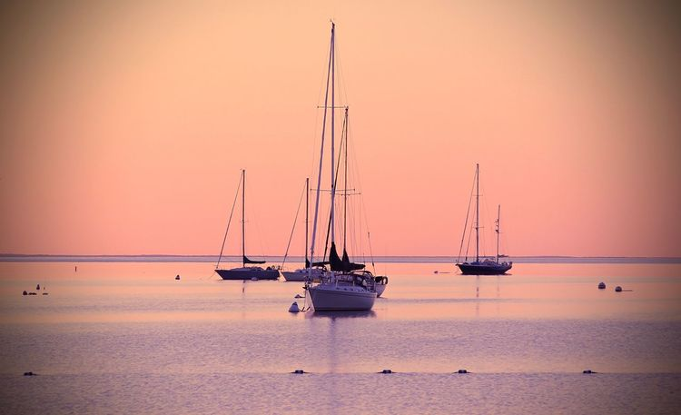 Beauty In Nature Day Mast Mike Stouffer Nature Nautical Vessel No People Outdoors Sailboat Sailing Ship Sea Sunset TheSixthLens Tranquil Scene Water Yacht Yachting