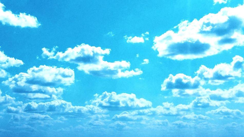Cloud - Sky Blue Sky Day Outdoors Pattern Ideas Coming To Life EyeEm Team Texaslife Sommergefühle
