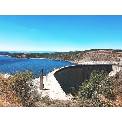 Hydroelectric Power Water Clear Sky Nature Irrigation Equipment Sky Outdoors Dam No People Built Structure Day Scenics Architecture