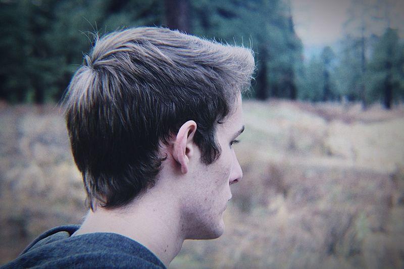 Profile Shot Of Man Outdoors