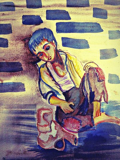 Copy Work Poverty Lives. Poverty Watercolor Painting Watercolors  Inspirational Hello World Hi! Define Art Eyemphotography India Dontforget