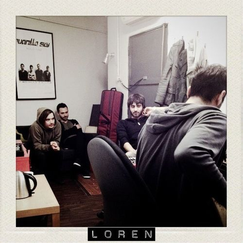 @lorenband in the studio with @afwine Thealternativefactory
