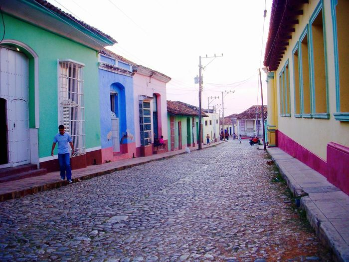 Architecture Building Exterior Built Structure Clear Sky Cuba Cuba Collection Cuban Cuban Cars Cuban Life Cuban Lifestyle Cuban Style Cuban Sunset Day Full Length Men One Person Outdoors People Real People Sky Transportation Walking