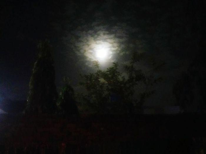 Night Spooky Illuminated Dark Moon Moonlight Fog Spotlight Indoors  No People Sky