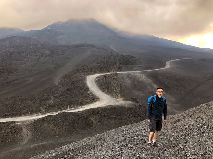 Etna Trecking Etna, Mountain, Sicily, Etna Volcano One Person Mountain Scenics - Nature Landscape Leisure Activity Lifestyles The Great Outdoors - 2018 EyeEm Awards