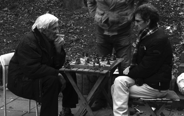 Sitting Senior Adult Real People Lifestyles Men Outdoors Chess Playing Strategy Documentary Streetphotography Canon550D Day Moment In Time