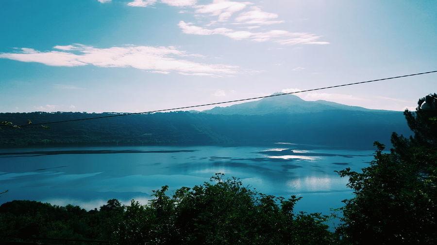 Lake Lake Albano Blue Water Sky
