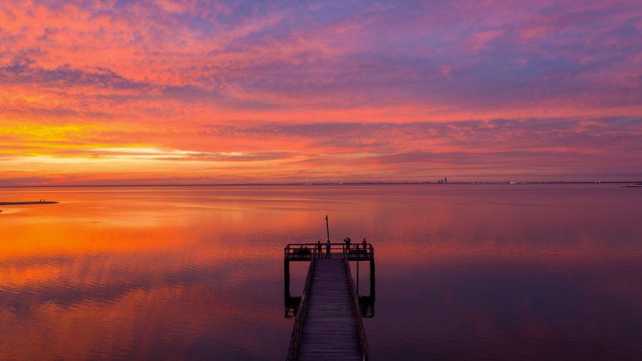 November sunset on mobile bay