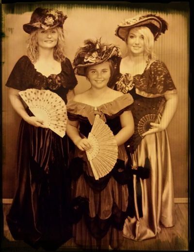Ladies in Waiting old time photo of me and my beautiful daughters :-) Old Time Photos Beuautiful Lady  Black And White Portrait My Beautiful Daughters