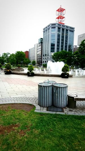 Cloudy Cloud New Shot City Hokkaido Japan City Life Odori Park Odori Park Fountain