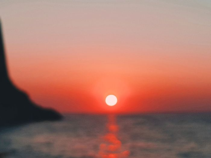 Moon Sunset Outdoors Tranquility Scenics Tranquil Scene Nature Sky Beauty In Nature No People Astronomy Night