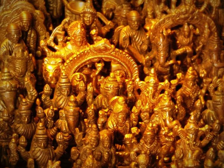 No People Gold Colored Religion Cultures Close-up Indoors  Statue Sculpture Idol Day Gods Ganpati GanpatiBappaMorya