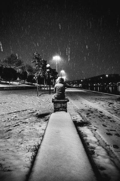 2012 Snow B&w Street Photography EyeEm Best Shots Alone Time EyeEmBestPics Istanbul