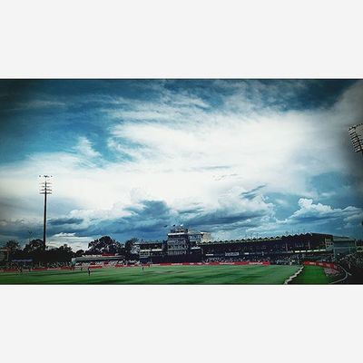BLOEMFONTEIN, SOUTH AFRICA: The Mangaung Oval played host to the 1st ODI cricket match against South Africa and England. Southafrica Cricket Sport Sun Green Funinthesun  Burndre Mycameraandi Takingphotos Lovephotography  Eye4photography  Welostthegame