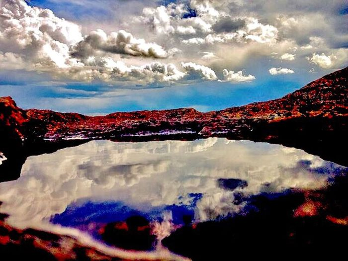 ***not a lake*** puddle on a rock @the top of Mount. Evans, CO Cloud - Sky Sky Nature Weather Beauty In Nature No People Outdoors Scenics Tranquility Day Mountain Lava Multi Colored Storm Cloud Tree