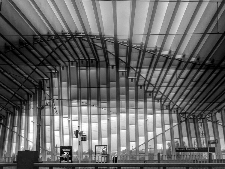Reggio Emilia railway station Silhouette Getting Inspired Architecture Modern Traveling Train Travelling Photography Samsung Structure EyeEm Best Shots Eye4photography  OpenEdit Details Train Station Blackandwhite Architecture_bw Outdoors Reggioemilia Silhouettes Showcase: November