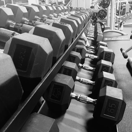 Gym time is the time I get to resolve frustrations. Large Group Of Objects Chair In A Row High Angle View Empty Seat Audience Indoors  Auditorium Day Gym Gym Time Weightlifting Fitness Dumbbells Weights Get Some Getting In Shape