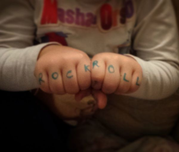 Lifestyles Love Part Of Focus On Foreground Human Finger In Front Of Cropped Message Tattoo Kids Kids_of_our_world Young Adult Tranquil Scene Rock N Roll Rock Music